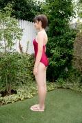 Asahina Saya red school swimsuit003