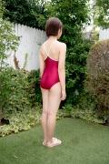 Asahina Saya red school swimsuit005