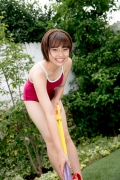 Asahina Saya red school swimsuit014