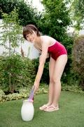 Asahina Saya red school swimsuit012