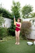 Asahina Saya red school swimsuit008