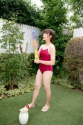 Asahina Saya red school swimsuit021