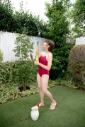 Asahina Saya red school swimsuit022