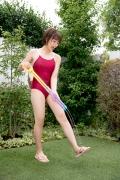 Asahina Saya red school swimsuit024