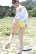 Wada Hitomi yellow swimsuit yellow bikini007