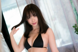 Iori Moe swimsuit gravure black bikini black bikini H cup Japans top cosplayer033