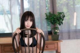 Iori Moe swimsuit gravure black bikini black bikini H cup Japans top cosplayer034