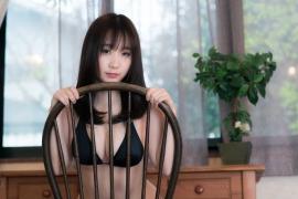 Iori Moe swimsuit gravure black bikini black bikini H cup Japans top cosplayer035