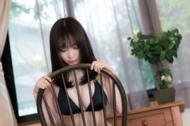 Iori Moe swimsuit gravure black bikini black bikini H cup Japans top cosplayer037