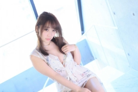 Iori Moe Swimwear Gravure Bikini Image Flowery Bikini009