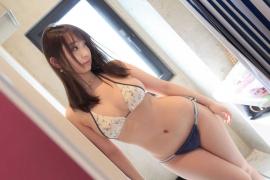 Iori Moe Swimwear Gravure Bikini Picture Rooftop Flowery Bikini008