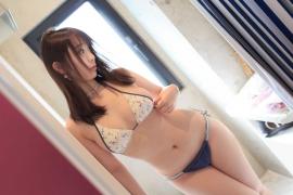 Iori Moe Swimwear Gravure Bikini Picture Rooftop Flowery Bikini009