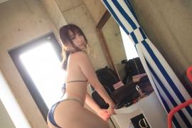 Iori Moe Swimwear Gravure Bikini Picture Rooftop Flowery Bikini032