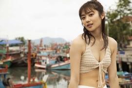 Kazusa Okuyama swimsuit bikini top beauty body013