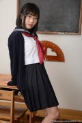Shirasaka Yui Underwear picture of a girl in a sailor suit temptation to undress013