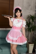 Shirasaka Yui maidservant undressing exposure002