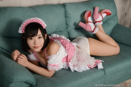 Shirasaka Yui maidservant undressing exposure058