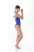 Hinako Tamaki swimming swimsuit gravure image Speedo Blue016