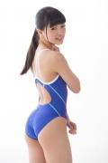 Hinako Tamaki swimming swimsuit gravure image Speedo Blue021