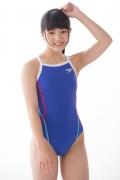 Hinako Tamaki swimming swimsuit gravure image Speedo Blue023
