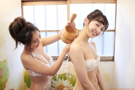 Yuno Ohara Yusa Komiya Hiyori sisters sexy hot spring bathing shots014
