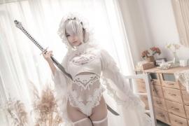 Costume Play 2B NIER:AUTOMATA Jorja II Type B Nier Automata White003