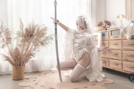 Costume Play 2B NIER:AUTOMATA Jorja II Type B Nier Automata White005