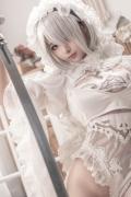 Costume Play 2B NIER:AUTOMATA Jorja II Type B Nier Automata White009