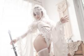 Costume Play 2B NIER:AUTOMATA Jorja II Type B Nier Automata White015
