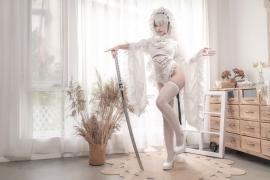 Costume Play 2B NIER:AUTOMATA Jorja II Type B Nier Automata White017