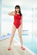 Kashiwagi Sarina red bathing suit picture pool 2020015