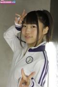 Miho Sugaya speedo swimming suit white red003