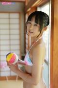 Riri Hoshino swimsuit gravure yukata flower pattern bikini018