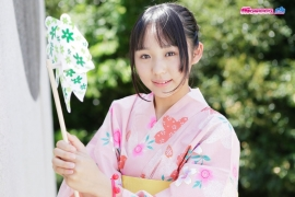 Riri Hoshino swimsuit gravure yukata flower pattern bikini011