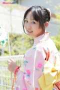 Riri Hoshino swimsuit gravure yukata flower pattern bikini006