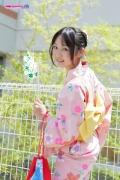 Riri Hoshino swimsuit gravure yukata flower pattern bikini005