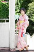 Riri Hoshino swimsuit gravure yukata flower pattern bikini008