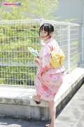 Riri Hoshino swimsuit gravure yukata flower pattern bikini004