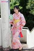 Riri Hoshino swimsuit gravure yukata flower pattern bikini007
