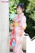 Riri Hoshino swimsuit gravure yukata flower pattern bikini009