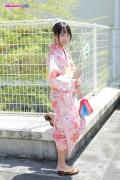 Riri Hoshino swimsuit gravure yukata flower pattern bikini003