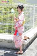 Riri Hoshino swimsuit gravure yukata flower pattern bikini002