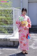 Riri Hoshino swimsuit gravure yukata flower pattern bikini001