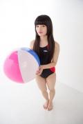 Hinako Tamaki Swimming Race Swimsuit Images NSA Beach Ball002