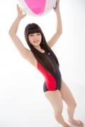 Hinako Tamaki Swimming Race Swimsuit Images NSA Beach Ball005