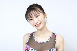 Yuka Ogura muscle gymnastics training wear fitness wear for women006
