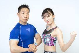 Yuka Ogura muscle gymnastics training wear fitness wear for women007