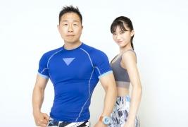 Yuka Ogura muscle gymnastics training wear fitness wear for women015