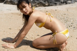 The leader of Baby Rays Erika Denyas cute and sexy swimsuit gravure image051