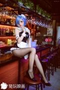 Cosplay Swimsuit Style Costume Rem Bunny Girl ReZero to Start Otherworldly Life002
